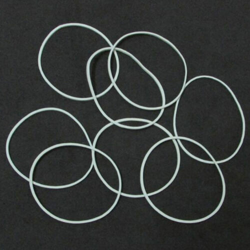50 PCS Rubber Bands White Color Rubber Elastic Bands Office Home Rubber Band
