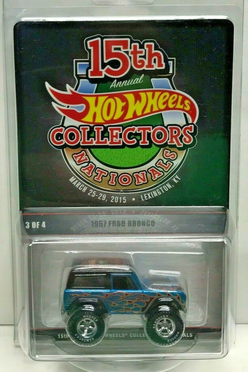 Hot Wheels 15th Cittadini 2015 Convention 1967 Ford Bronco Ky Lampada a RR