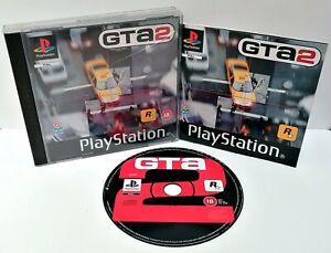 Grand-Theft-Auto-2-GTA-Sony-ps1-Black-Label-Disk-ausgezeichnete-Fall-beschaedigt