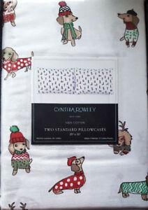 Hula Beach Dachshunds Cynthia Rowley Set of 2 Standard Pillowcases