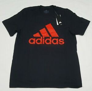 Adidas-Men-039-s-Tee-Basic-Boss-Tee-ED9613-Black-Red-Training
