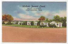 Wellers Tourist Court Motel Chattanooga TN linen postcard