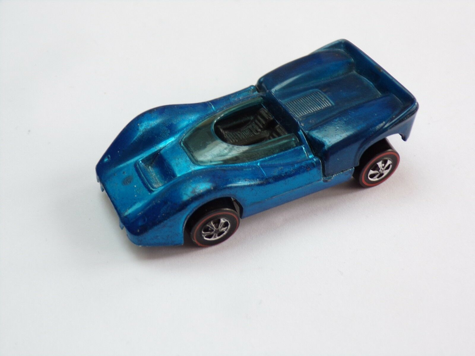 Hot wheels vintage Redline Mclaren M6A in bluee Hong Kong VGC