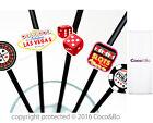 Coco&bo 10 X Las Vegas Cocktail Party Straws Casino Night Poker Decorations