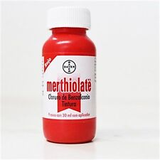 2 BAYER MERTHIOLATE TINCTURE 30 ml first aid antiseptic red Minor Cuts Wounds