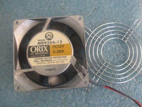 Tested Good/< Oriental Motor // Orix  Model: MD925A-12 Fan 0.26A DC12V,