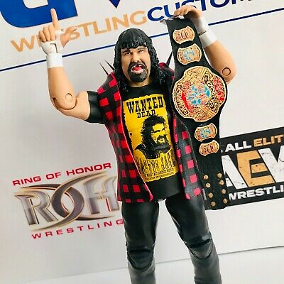 WWE ECW World Championship in finta pelle personalizzato per Mattel//Jakks//Hasbro Figure