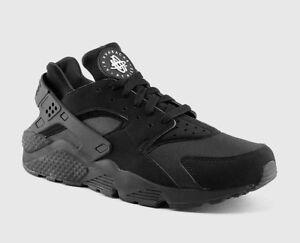 Detalles de Nike Air Huarache Para hombre talla 8-13 Negras Blancas triple  correr 10 11 12 13 318429 -003- ver título original