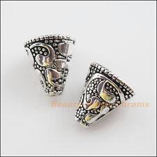6Pcs Tibetan Silver Tone Flower Cone End Bead Caps Craft DIY 12x13mm