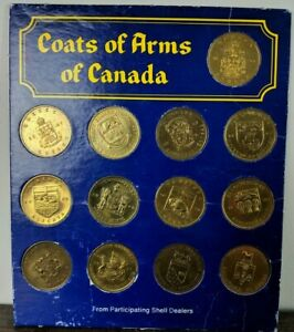 Shell Coat Of Arms Floral Emblems Of Canada Complete 1960s Coin Set Ebay