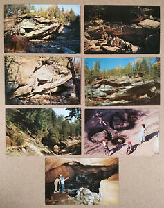 Pottersville-NY-Lot-of-14-Postcards-NATURAL-STONE-BRIDGE-amp-CAVES-c-1950s
