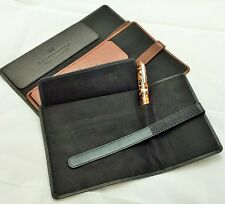 NORTHUMBRIAN PEN CO - FIVE PEN LEATHER ROLL UP CASE