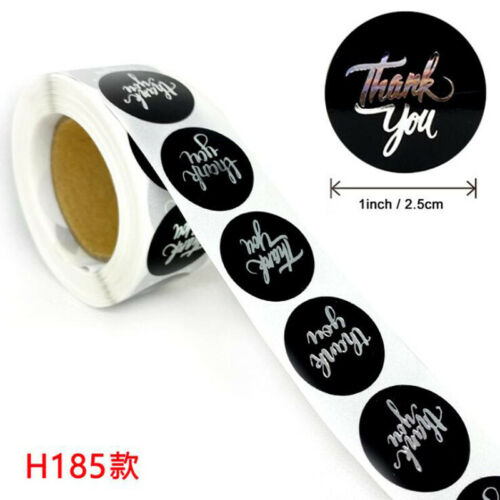 500* Thank You Stickers Handmade Labels Round Heart Business Gift Sealing H185