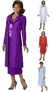 GMI-Womens-3-piece-Duster-Skirt-Set-w-Coat-Tank-Skirt-Choose-Size-amp-Color