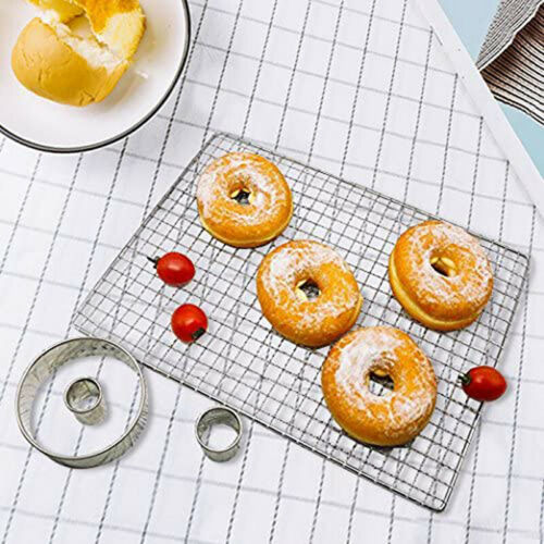 12x Stainless Steel Ring Round Cake Mould Doughnut Fondant Molds Baking Tool EM