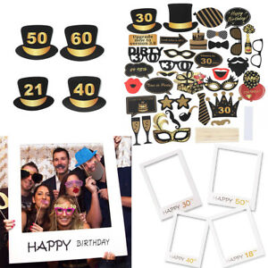 18TH-30TH-40TH-50TH-60TH-21ST-Happy-Birthday-Party-Cadre-Photo-Photo-Booth-Props