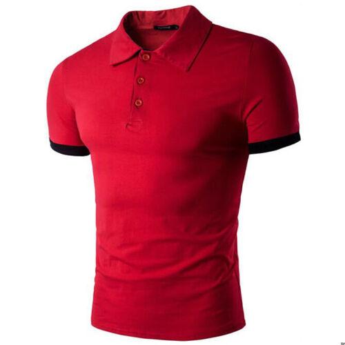 Fashion Men/'s Casual T-Shirt Slim Fit Short Sleeve POL Shirt Tops Tee