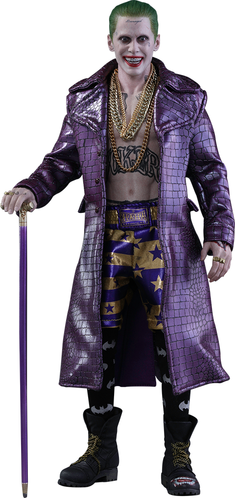 Hot Toys MMS382  Suicide Squad Squad Squad The Joker The Joker (lila Coat Version) 5c5836