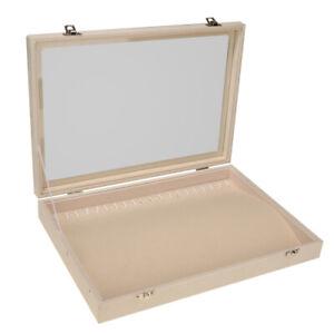 Винтажный стиль ювелирных изделий дисплей коробка бархатная поверхность для хранения аксессуаров