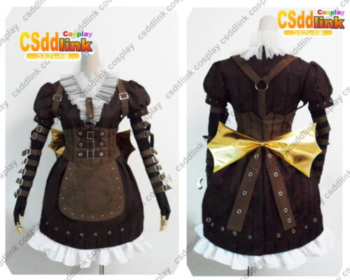 Alice Madness Returns Alice Liddell Steamdress Cosplay Costumes MM99