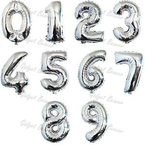 Image Is Loading XL Silver Helium Balloons Party Birthday Jumbo Foil