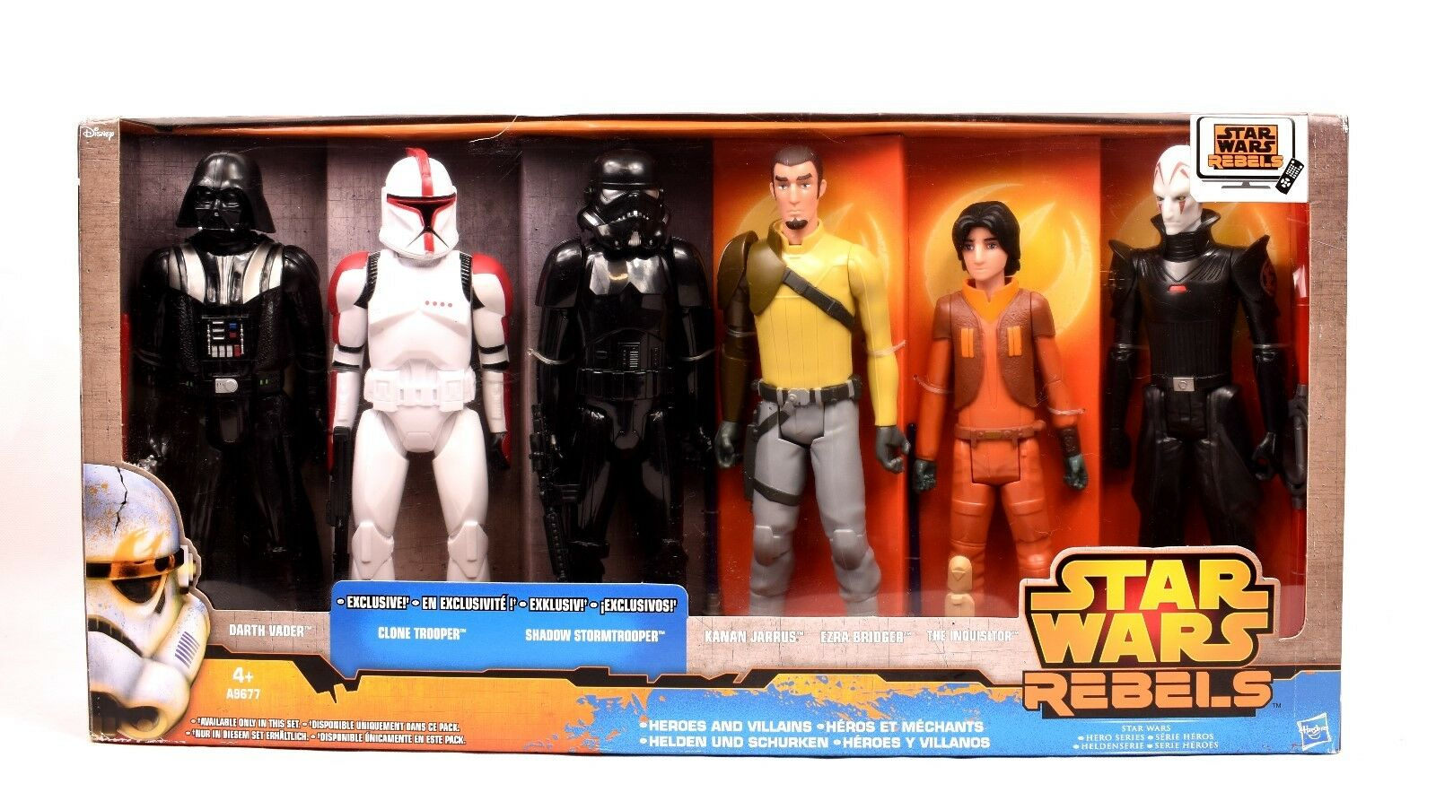 Star - wars - rebellen - helden und schurken exklusive 12  action figure set