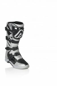 Details about Acerbis X TEAM motocross enduro boots adult silver white