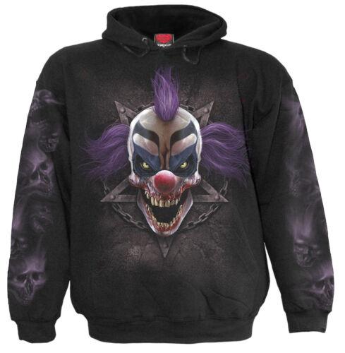 Spiral Direct MADCAP Hooded,Clown//DarkWear//Skull//Joker//Goth//Pullover//Hood//Hoodie