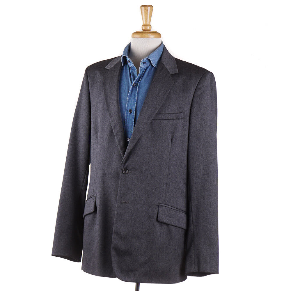 695 RAG & BONE grau Wool Blazer Sport Coat Slim 46 L (fits 44L) Handmade in USA