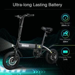 VeLo-electrique-Pliant-Velomoteur-D-039-Aluminium-Durable-LED-Phare-USB-25KM-H-NOIR