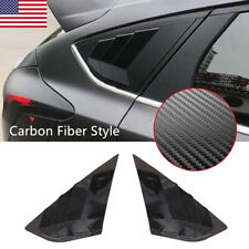 Satin Black Window Cover Louver Scoop Vent For 12-18 Focus ST RS MK3 Hatchback