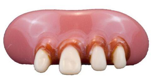 Teeth Billy Bob Snaggletooth Comedy Fancy Dress Acrylic Teeth and Fixative Adult