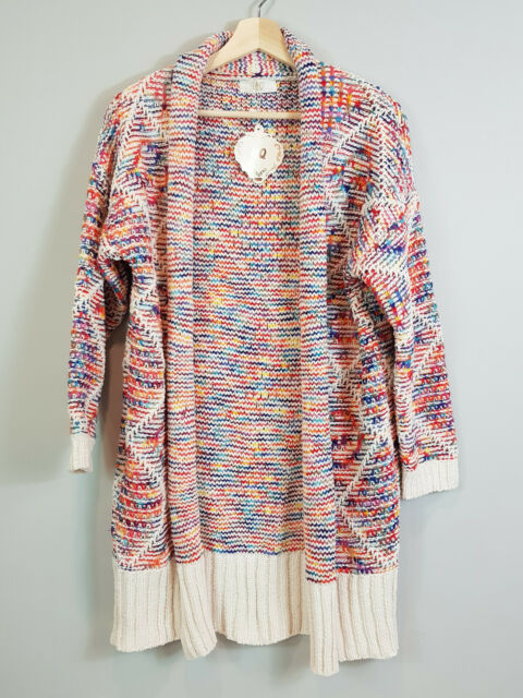 HQWomens Knitted Chunky Emmy Cardigan NEW Size M // L or AU 12-14