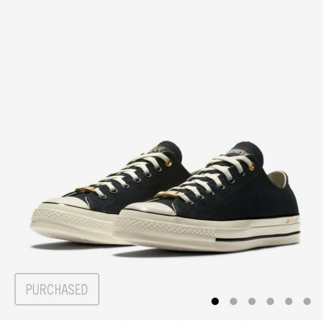 CONVERSE CHUCK 70  30 & 40  LOW TOP BLACK WHITE SIZE 12-IN HAND & READY TO SHIP
