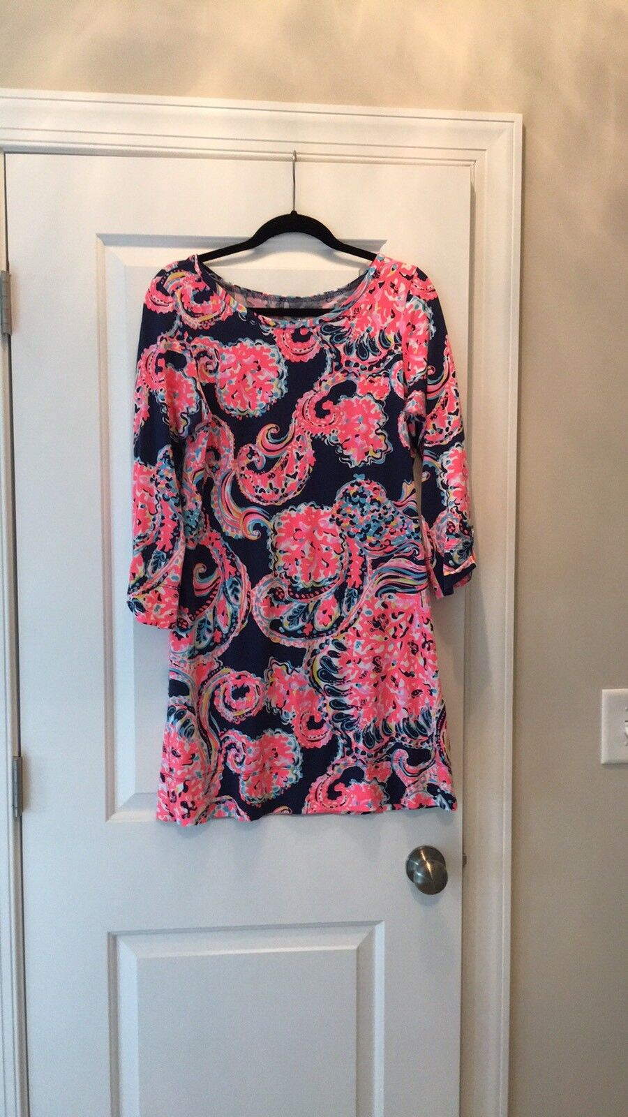 NWT Lilly Pulitzer Linden Dress  Bright Navy Pop up For The Halibut Medium