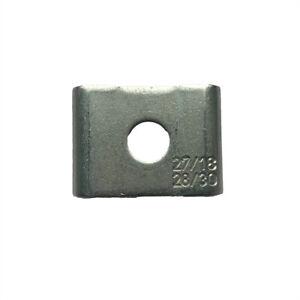 Halteklammer für Montageschiene Silber Sicherungsklammer Schelle für C-Profile