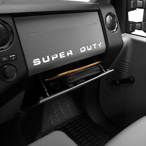 2008-2016 Ford F-350 SUPER DUTY Dash Board Vinyl Letters Chrome Inserts Stickers