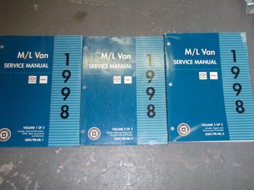 1998 GMC SAFARI /& ASTRO VAN ML VAN M L VAN Service Shop Repair Manual Set 1ST ED
