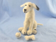 Patch the Dog with Ball and Bone Needle Felting Kit for beginners and improvers