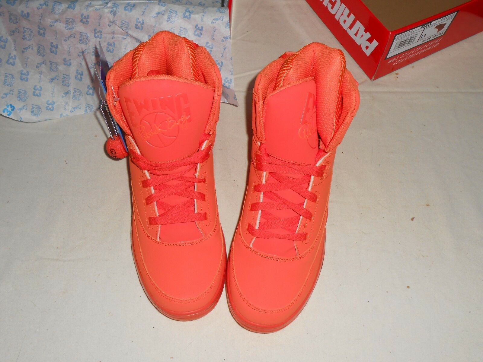 New PATRICK EWING Athletics 33 Schuhes HI Vibrant Orange Basketball Schuhes 33 - Größe 11 4fc822