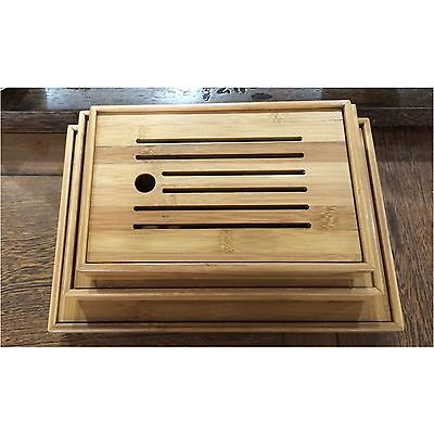 New Bamboo Gongfu Tea Tray Chinese Serving Table 4 Size High Quality Wholesale