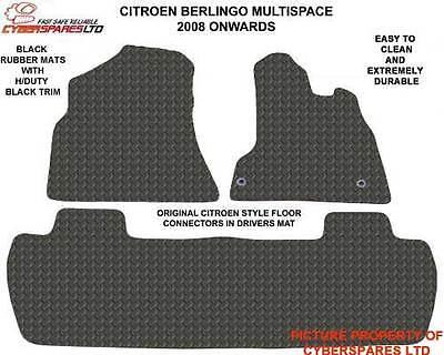 Citroen Berlingo Multispace 08>Tailored RUBBER Car Mats