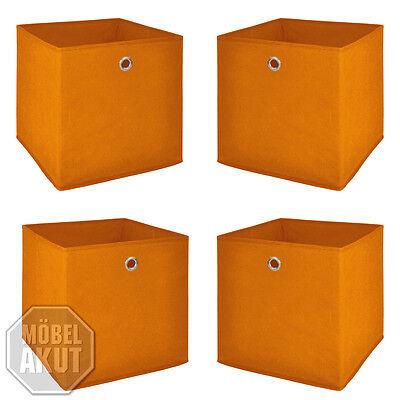 Faltbox Flori 1 4er Set Korb Regal Aufbewahrungsbox in orange