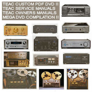 Details about Teac Service Manuals Owners Manuals, Custom Compilation DVD  Collection PDF DVD