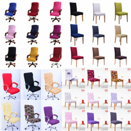 Office Computer Chair Cover Home Decor Spandex Stretch Swivel Seat Antimacassar