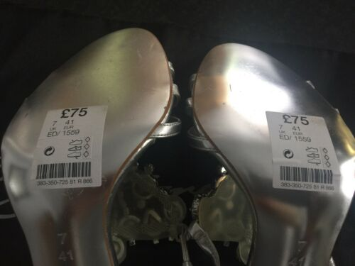 New With Silver Next Jewelled Sandals Signature Tags Rrp£75 6vSTBq1WTw