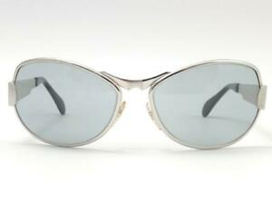 VINTAGE-NEOSTYLE-OVERSIZED-034-ZODIAC-034-SILVER-GREEN-LENSES-1980-039-S-GERMANY