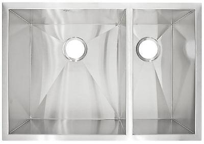 """Kitchen Sink Modern Undermount Stainless Steel 29"""" x 10"""" Deep LP3R by LessCare"""