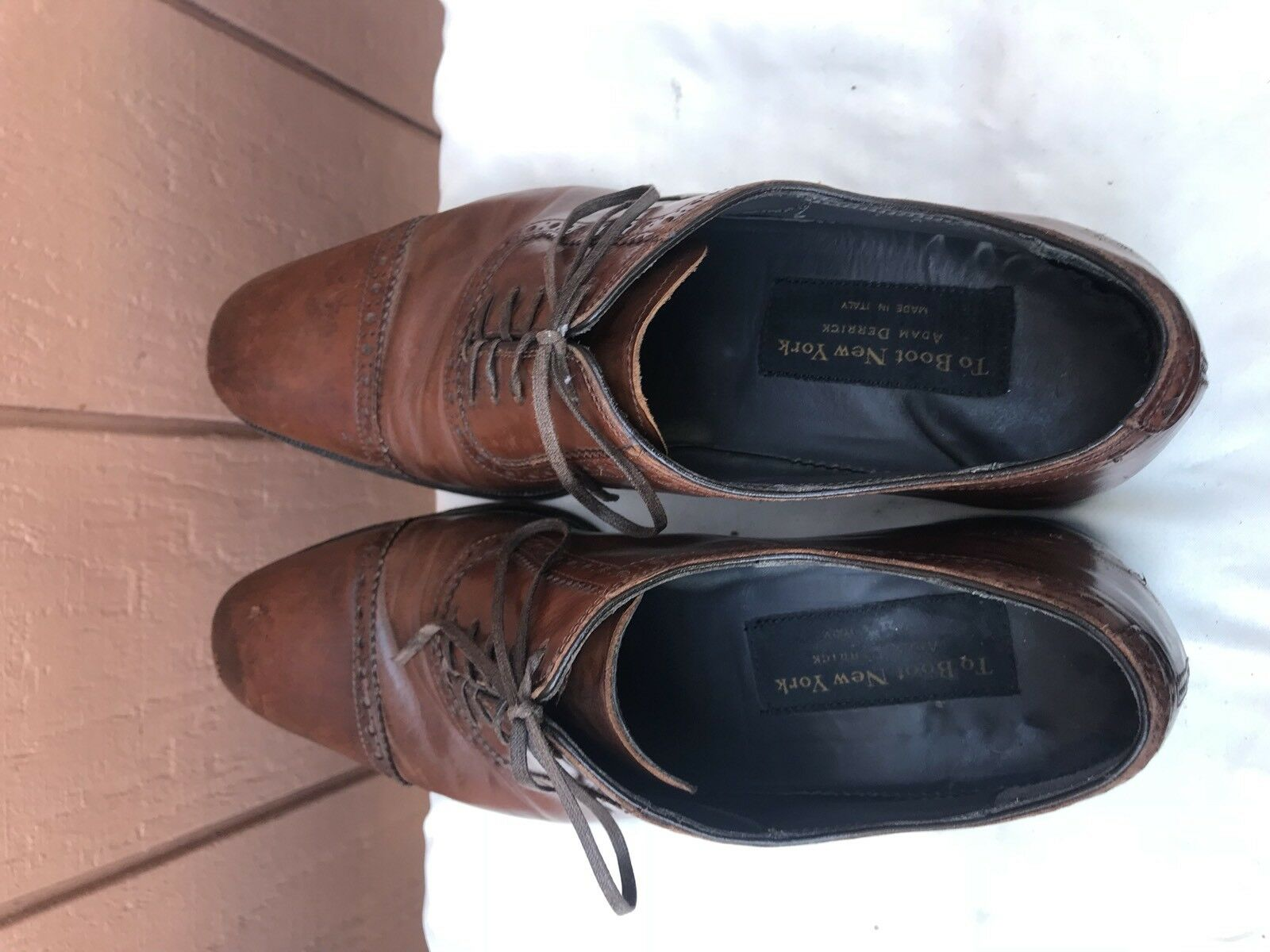 To Boot New York Cap Toe Oxford Size US 8.5 Brown Pelle  395 A1