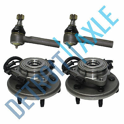 2 Front Wheel Bearing & 2 Outer Tierod 2002 2003 2004 2005 Ford Explorer Aviator